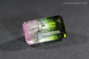 Watermelon Tourmaline, faceted, Mozambique.  2.81 carats.  ** SOLD **